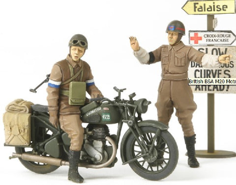 Tamiya Military 1/35 British BSA M20 Motorcycle w/Rider & MP Kit