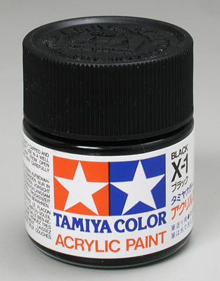 Tamiya Acrylic X1 Gloss Black 23 ml Bottle
