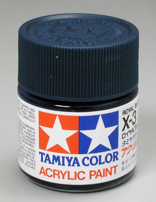 Tamiya Acrylic X3 Gloss Royal Blue 23 ml Bottle