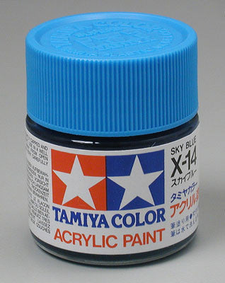 Tamiya Acrylic X14 Gloss Sky Blue 23 ml Bottle