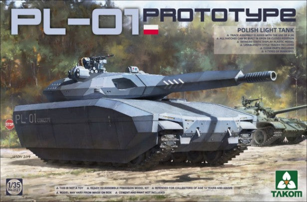 Takom Military 1/35 PL01 Prototype Polish Light Tank (New Tool) Kit