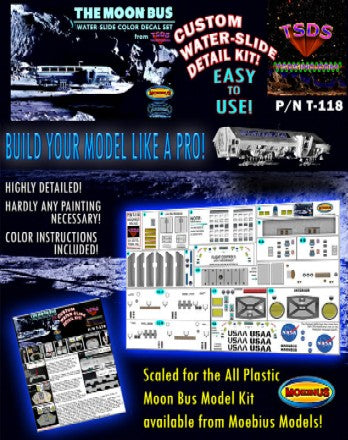 TSDS Decals 1/50 Moon Bus Decal Set for MOE