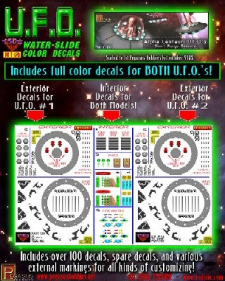 TSDS Decals 1/32 Alpha Centauri UFO Decal Set for PGH