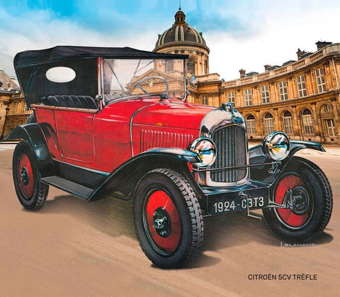 Heller Model Cars 1/24 Citroen Trefle Type 5CV Vintage Car Kit