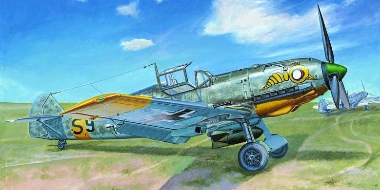 Trumpeter Aircraft 1/32 Messerschmitt Bf109E7 German Fighter/Bomber Kit