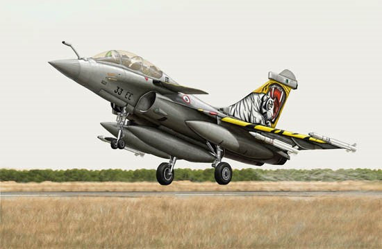 Trumpeter Aircraft 1/144 French Rafale B Fighter Kit