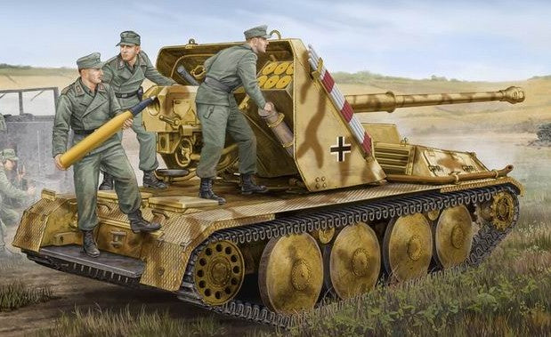 Trumpeter Military Models 1/35 German Ardelt 1 8.8vm Pak 43 Waffentrager Selp-Propelled Gun Kit
