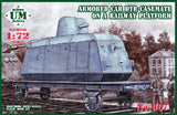 Unimodel Military 1/72 DTR-Casemate Armored Railway Car w/Platform Kit