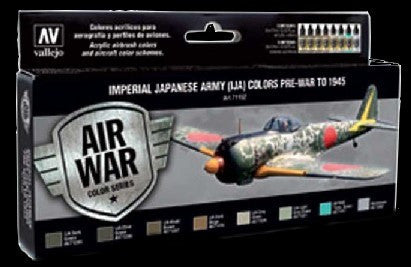 Vallejo Acrylic Paint 17ml Bottle Imperial Japanese Army Colors Pre-War to 1945 Model Air Paint Set (8 Colors)