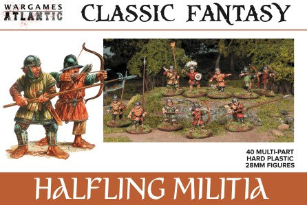 Wargames Atlantic 28mm Classic Fantasy Halfling Milita w/Weapons (40) Set