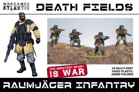 Wargames Atlantic 28mm Death Fields Raumjager Infantry w/Weapons (24) Set