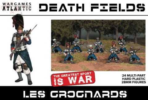 Wargames Atlantic 28mm Death Fields Les Grognards w/Weapons (24) Set