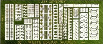 White Ensign Details 1/700 Fixed Wing Aircraft Detail Parts Set