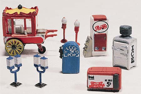 Woodland Scenics HO  Scenic Detail Vending Machines Kit (8)