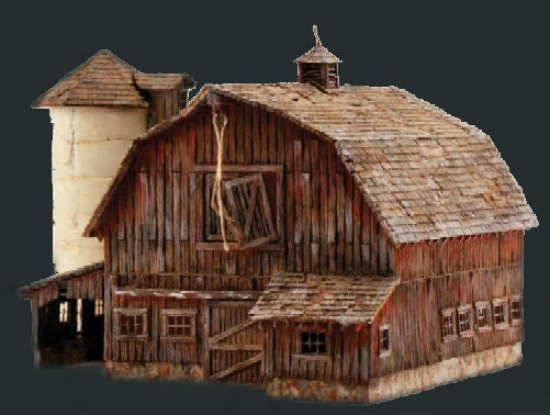 woodland scenics o built n ready old weathered barn led lighted