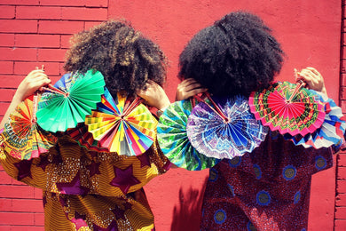 Leather & African Fabric Fans (Bestseller!)