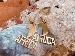 Africa Text earrings