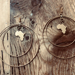 Africa inside Hoops Earring