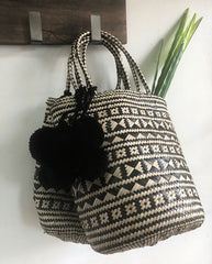 The Black & White Basket Bag