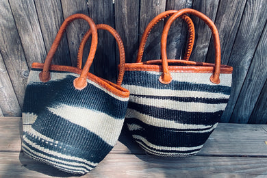 Black & White Basket Bag