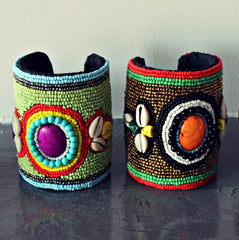 The Jumbo Beaded Cuffs: Fashion Accessory & Interior Decor