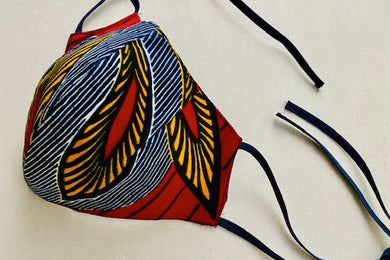 African Print Face Masks: Mask with Ties