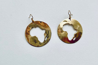Round Africa Earrings with Madagascar