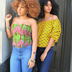 Accra Bustier Tops (4 African Prints) - great for Summer!