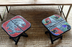 Akosombo Beaded Side Tables