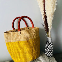 Color Block Market Basket (made in Ghana)