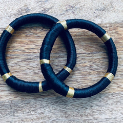 Silky Road Bangles (Gold & Silver)