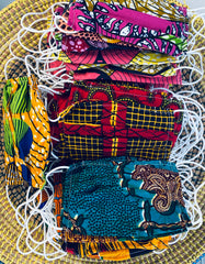 African Print Face Masks: Surgical Mask Style