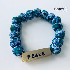 NEW: Recycled Word Bracelet