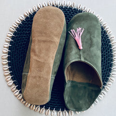 New: Suede Babouche Slippers (5 colors)