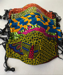 African Print Face Masks: Adjustable