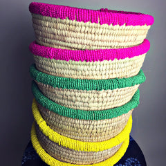 Beaded Everything Basket (4 colors)
