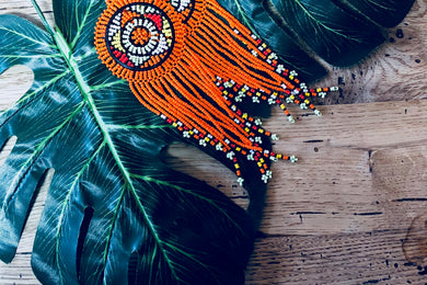 Beaded Queen Earrings - Made in South Africa (4 colors)