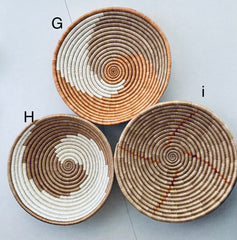 Rwanda Sisal Baskets (Wall Decor & Storage)