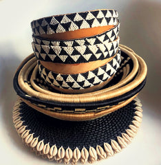 Beaded Bowls & Vase (Decor)