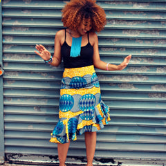 Stylish, Sexy, Cool: The Tailored Ruffle Skirt (3 Prints)