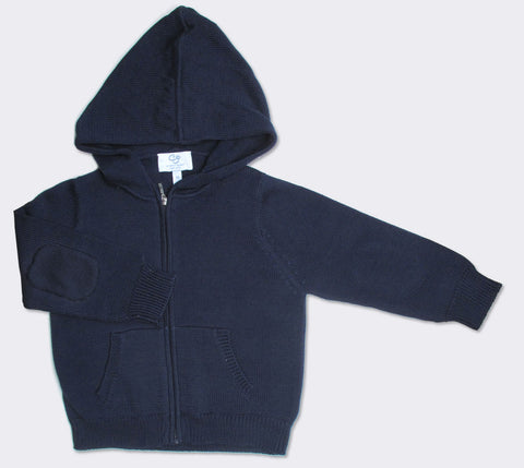 Luxury Cotton Hoodie in Navy
