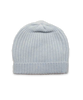Cashmere Ribbed Hat in Blue