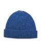 Cashmere Ribbed Hat in French Blue