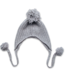 The Taylor Pom-Pom Hat, silver