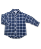 Workwear Shirt in French Blue/Navy Plaid