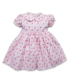 Rachel Dress in Ditsy Pink