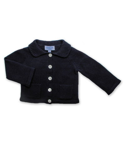 Cashmere Boy's Cardigan in Navy
