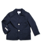 Cotton Poplin Blazer in Navy