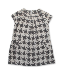 Willow Dress in Gray Crosshatch