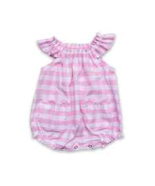 Baby Bubble in Pink Bold Check